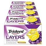 Trident Layers Sugar Free Gum, Grape Lemonade, 14-Piece Box (Pack of 12)