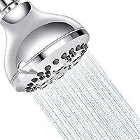 TECCPO 3.5 Inch 5-setting High Pressure Fixed Chrome Shower Head