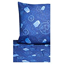 Doctor Who Tardis Gears Blue Full Size Sheet Set