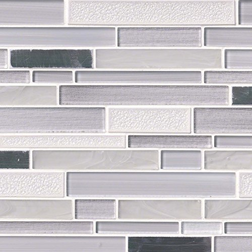 well-wreapped Krystal Interlocking Pattern 8mm Glass Metal Blend Mosaic Tile