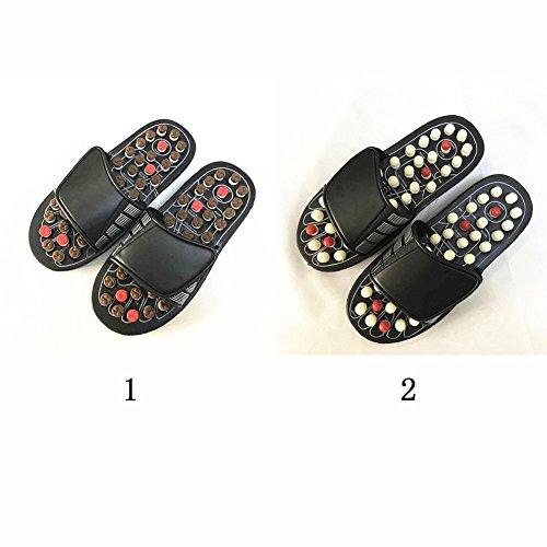 riflessologia circolazione e per White massaggio sandals sangue metabolismo massaggio 39 Care pantofole Whi Foot agopressione del rotante ciabatta promote il migliorare 38 shoe Xpccj Black piede Black massaggiatore qxwYZUP7