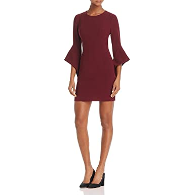675ee2805f Image Unavailable. Image not available for. Color  Black Halo Womens Lorie  Bell Sleeve Mini Cocktail Dress ...