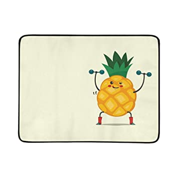 Amazon com : Cute Pineapple Cartoon Character Listening to