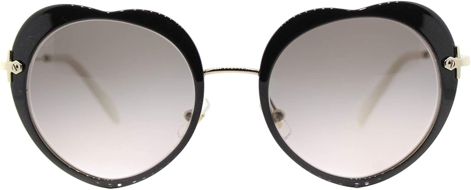 Miu Miu mixte adulte Lunettes de Soleil Core Collection MU 54RS Noir (Black/Pinkgradientgrey)