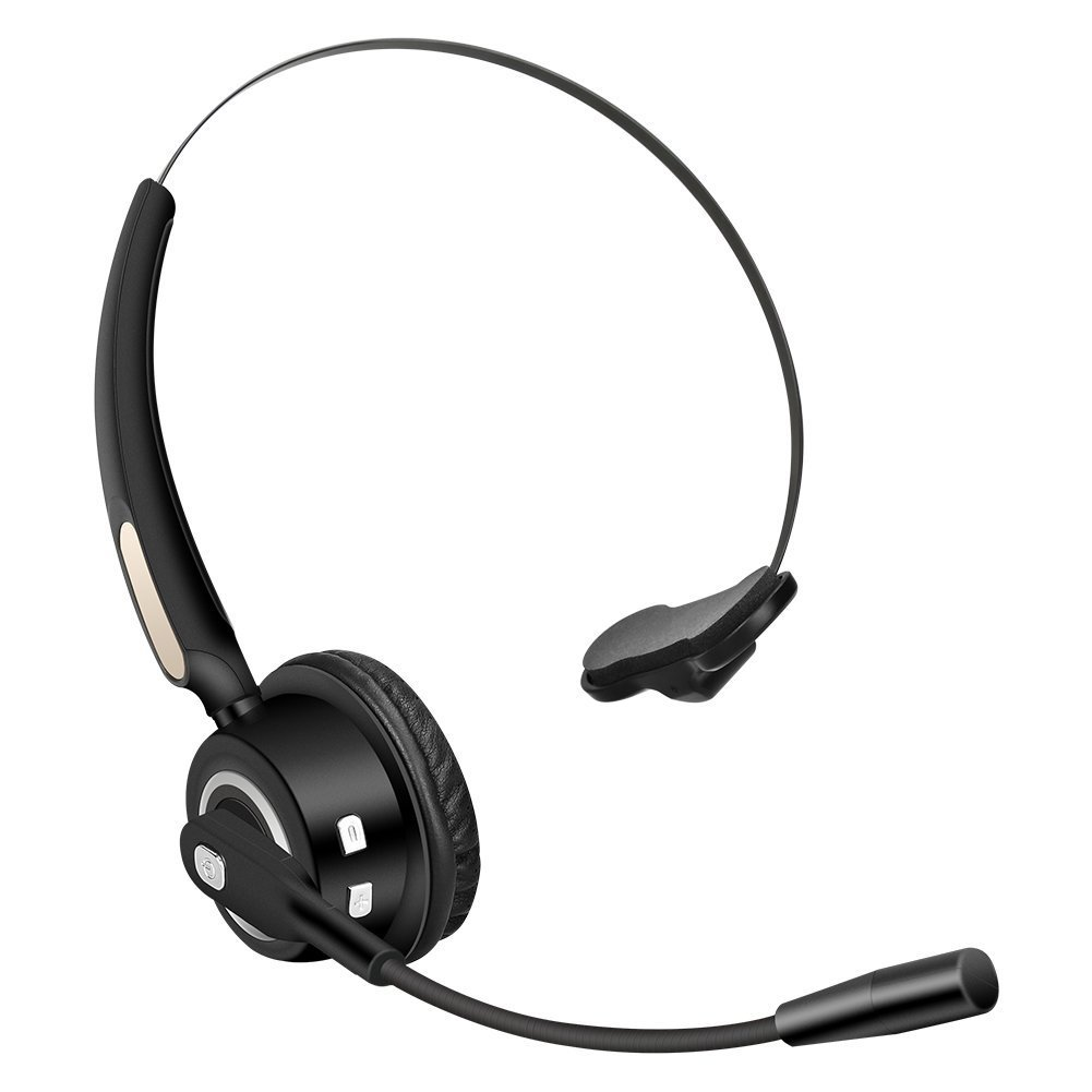 Truck Driver Bluetooth Headset Office Wireless headphones Mic Noise Canceling Headset with Microphone for Call Center, Cell Phone Laptop Voiinoiu BH520
