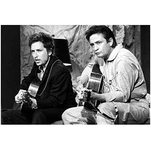 Music 8x10 Photo - Bob Dylan and Johnny Cash Playing Guitar Together 8 x 10 Inch Photo