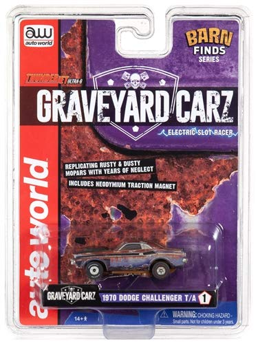 Auto World Graveyard Carz 1970 Dodge Challenger T/A Ho Scale Slot car from Auto World