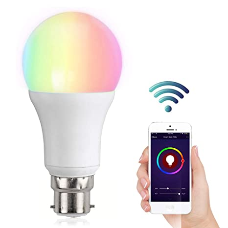 WiFi Smart Bulb, YAPMOR Alexa Smart Light Bulb, 9W, B22, 800LM Compatible  with Amazon Alexa and Google Home, Work with IFTTT, Brightness Control,