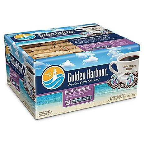 Amazon com: 80-Count Golden Harbour Donut Shop Coffee for Single
