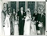 Vintage photo of Gillian Spence, Anthony Blee, Dr. Bardsley, Rev. H. Williams and Prof Basil Spence.