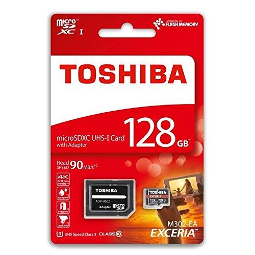 128 GB class-10 Micro tarjeta de memoria SDXC con adaptador SD ...