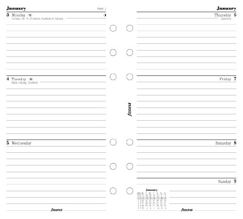 Filofax Calendar Refills Week on Two Pages 2013 Personal Size – FF-6841813, Health Care Stuffs
