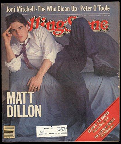 ROLLING STONE Matt Dillon Joni Mitchell Peter O'Toole 11/25 1982