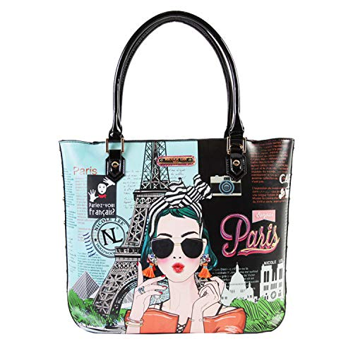 Shopper Bag With Multiple Compartments And Detachable Shoulder Strap (XOXO From Paris) (Ladies Handbags Xoxo)