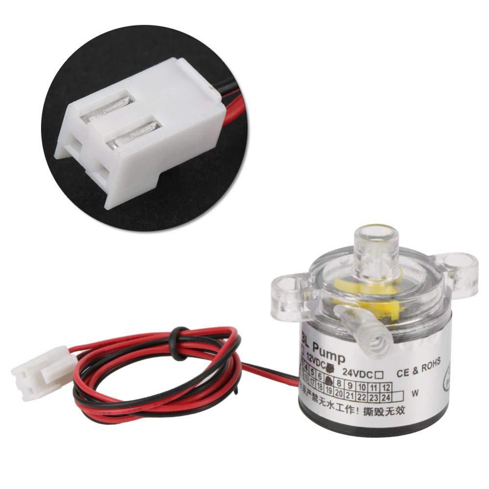 Akozon Mini Water Pump, Low Noise Environmental Plastic Electric Brushless Water Pump 12V 7W by Akozon (Image #4)