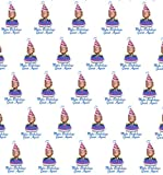 American Vinyl 30x30 inch Sheet Donald Trump MAKE BIRTHDAYS GREAT AGAIN Wrapping Paper (B-day gift wrap)