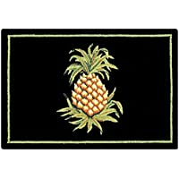 C&F Home Pineapple Hooked Rug, 2 x 3, Black