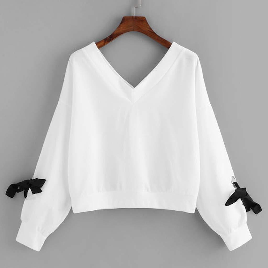 ZODOF Sudaderas Mujer Otoño e Invierno Adolescentes Chicas Sudaderas de Manga Larga Camiseta Original Tops Sudadera Blusa Sweatshirt T-Shirt: Amazon.es: ...