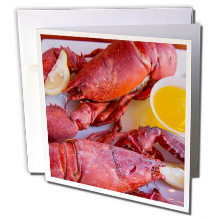 nt - Maine - Portland, Maine, lobster dinner at regional seafood restaurant - 12 Greeting Cards with envelopes (gc_251068_2) (Lobster Portland Maine)