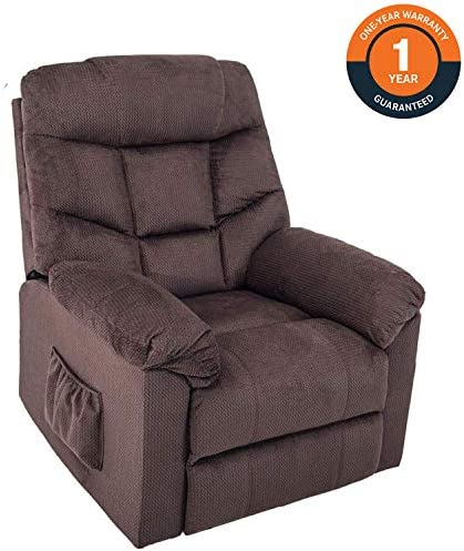 Harper Bright Designs Power Lift Recliner Chair Upholstered Fabric