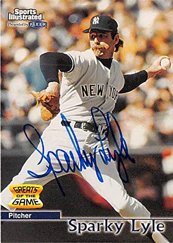 Sparky Lyle autographed Baseball Card (New York Yankees) 1999 Fleer Sports Illustrated Greats #28