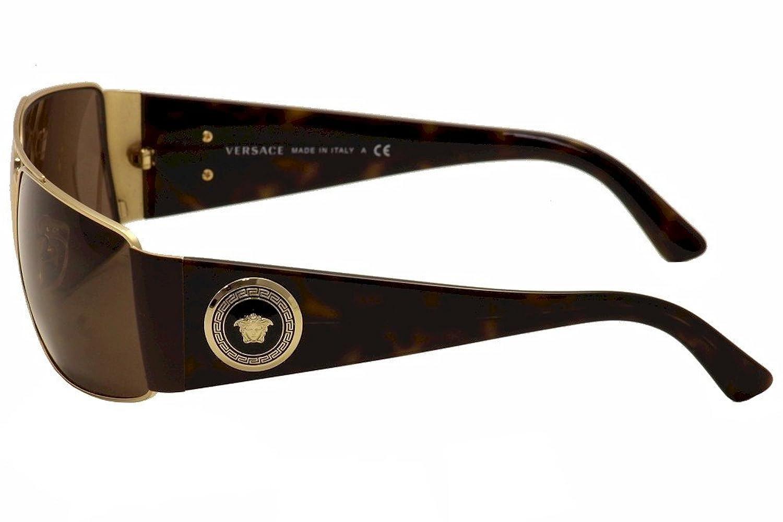 Frame glasses versace - Amazon Com Versace Ve2163 Sunglasses 100273 63 Gold Frame Brown Clothing