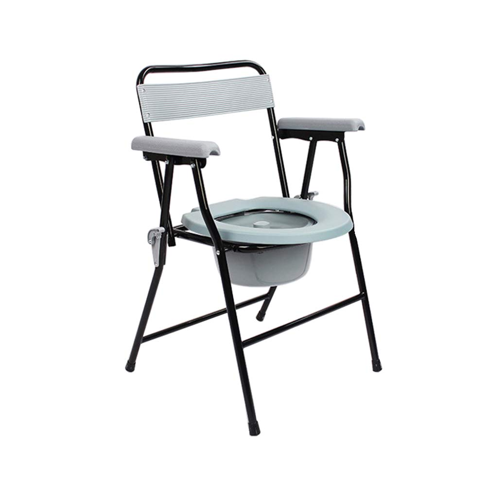 SSZZ Household Commode Chair - Removable Folding Commode Chair, Comfortable and Durable, Suitable for Pregnant Women People with Disabilities, Etc by SSZZ