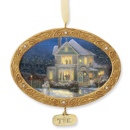 Gregg Gift Thomas Kincade Painter of Light Holiday Cheer Ornament, ()