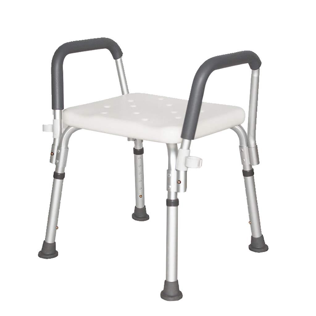 シャワースツール\シャワーチェア 高齢者、障害者、妊娠中の女性、調節可能な高さのためのバスルームスツールアルミシャワー椅子アンチスリップ バスシートベンチ\バススツール   B07L48QPW8