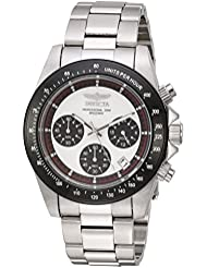 Invicta Mens Speedway Quartz Stainless Steel Casual Watch, Color:Silver-Toned (Model: 23121)