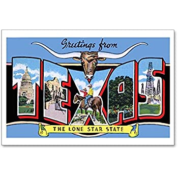 Amazon cafepress texas greetings postcards package of 8 cafepress texas greetings postcards package of 8 6x4 m4hsunfo