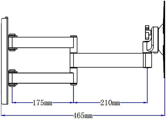 DQ Rotate Triple L Negro- soporte de pared con brazo: Amazon.es: Electrónica