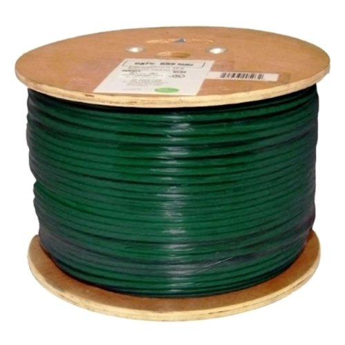 Vertical Cable Cat6, 550 MHz, Shielded, 23AWG, Solid Bare Copper, 1000ft, Green, Bulk Ethernet Cable