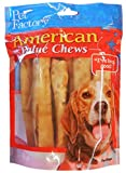 Pet Factory American Beef Hide Chicken Flavored Chip Rolls Chews For Dogs (8 Pack), Small/5″ Review