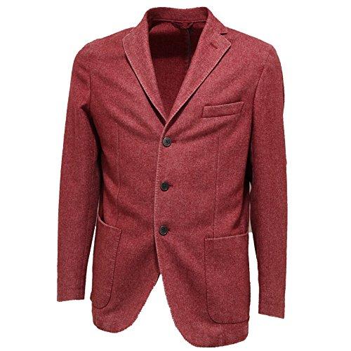 Jackets Giacche 7211l Lana Giacca Men Rosso Geniali Coats Uomo wqFA7XZ
