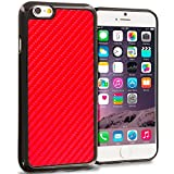 Cell Accessories For Less (TM) Red Carbon Fiber TPU Design Soft Rubber Case Cover for Apple iPhone 6 Plus 6S Plus (5.5) Bundle (Stylus & Micro Cleaning Cloth) - By TheTargetBuys