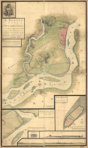 Map: 1777 A survey of the city of Philadelphia and its environs shewing the several works constructed by His Majesty's troops, under the command of Sir William Howe, since their (Cupones De Party City)