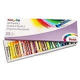 Pentel Arts Oil Pastels, Set of 25 Pastels (PHN-25)