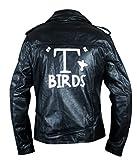 F&H Men's Grease T Birds Danny Zuko John Travolta Jacket XL Black