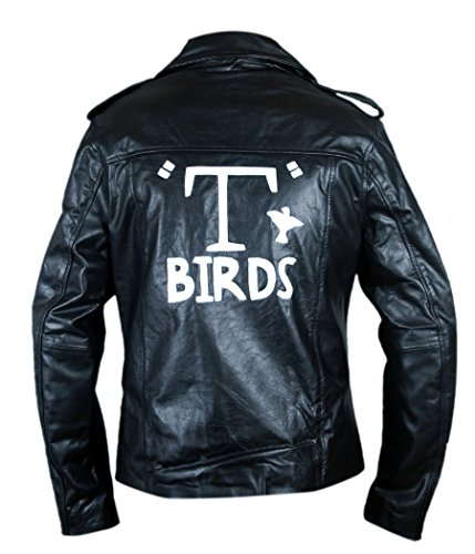 F&H Men's Grease T Birds Danny Zuko John Travolta Jacket XL Black by Flesh & Hide