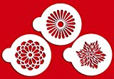 Designer Stencils C559 Modern Flower Cookie Stencil Set, Beige/Semi-Transparent