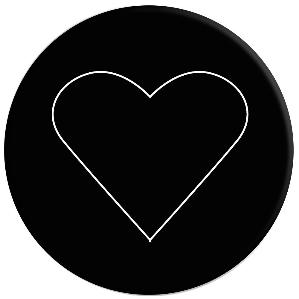 PopSockets: Collapsible Grip & Stand for Phones and Tablets - White Heart Black by PopSockets (Image #2)