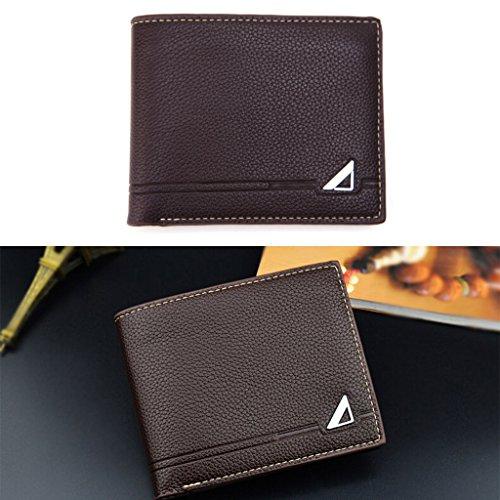 Bifold Card Pocket Holder Wallet Money Coin Wrisky Bag Purse Men Business Coffee 5pwI5qC