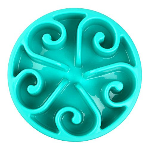 Pedy Pet Fun Feeder Dog Bowl Slow Feeder, Slow Feed Dog Bowl, Bloat Stop Dog Bowl, Slow Feed Interactive Puzzle ()