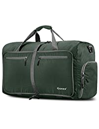 Gonex 80L Foldable Travel Duffle Bag for Luggage, Gym, Sport, Camping, Storage, Shopping Water Repellent & Tear Resistant Dark Green