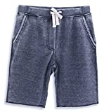 HARBETH Men's Casual Soft Cotton Elastic Fleece Jogger Gym Active Pocket Shorts Burnout Navy L