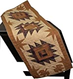 "Harvest Log Cabin Table Runner Quilt 50"" Long By 17"" Wide 100% Cotton Handmade Hand Quilted Heirloom Quality"