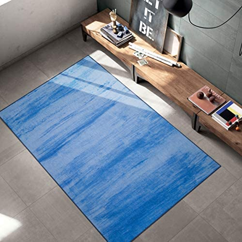 Woven Trends Contemporary and Modern Area Rug, 046 Vintage Solid Cloud, Extremely Durable and Stain Resistant, Stylish with Non-Skid Rubber Backing Blue, 10 x 13 Area Rug