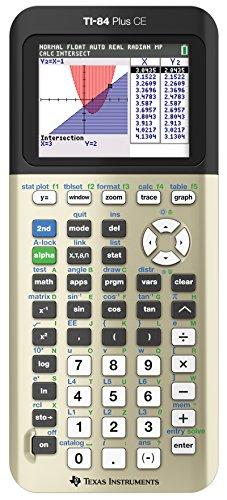 Texas Instruments TI84PLSCEGOLD TI-84 Plus CE Graphing Calculator, Gold
