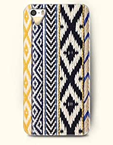 OOFIT Aztec Indian Chevron Zigzag Native American Pattern Print Hard Case for Apple iPhone 5 5S (iPhone 5C Excluded) (Ethic Aztec Tribe Pattern)